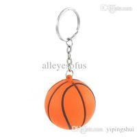 basketball stress balls - Orange Black Basketball Shape Sport Stress Ball Link Chain Key Ring Wonderful Gift