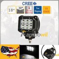 lens for cree led - 18W Cree Led Work Light Bar Spot Beam Degree K PC Lens Waterproof For Offroad x4 Mining Boating Truck Driving Lamp