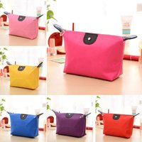 Wholesale Lovely Moon Design Color Cosmetic Bag Waterproof Nylon Travel Organizer Makeup Bag Girls Toiletry Storage Purse Cases Beauty Favors SK507
