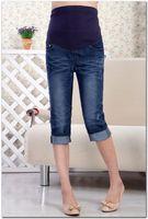 Wholesale Pregnant women pant summer models hemmability prop belly Maternity Jeans