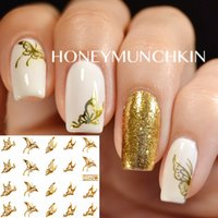water nail decals - 1 sheet Vivid Butterfly Pattern Nail Art Water Decals Transfers Sticker C042