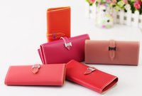 cheap wholesale purses - candy color faux leather Women s wallet purse cheap wallet clutch leather leather wallet multifunction wallet