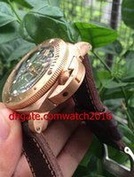 Wholesale Luxury Watch Mens Watch mm Days Submersible Bronze PAM382 PAM Gold Automatic Mens Watch Men s Watches