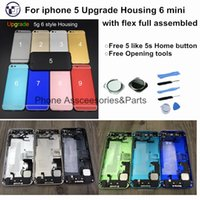 assembly with upgraded - High Quality Housing Assembly for iPhone Back Housing with Flex Assembly mini Upgrade Free s Home button Tools Fast Ship