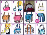 Wholesale Factory price whole sale FASHION Comic Cartoon D Messenger Bag Shoulder Bag types by Fedex DHL