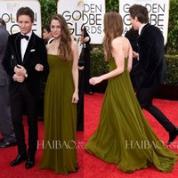 Wholesale 2015 nd Golden Globe Awards Hannah Bagshawe Strapless Ruched Backless A Line Long Red Carpet Fashion Celebrity Dresses Evening Gowns