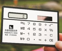 Wholesale Cute mini portable card calculator Pocket calculator Solar calculator slim Cheap