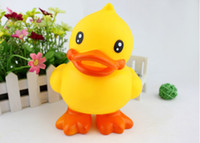 toy duck calls - Hot Sale Genuine yellow CM duck Hongkong big yellow duck toy Squeezing Paddle call baby toys