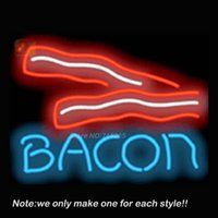 bacon gifts - Bacon Neon Sign Pub Store Beer Pub Recreation Room Neon Signs Handcraft Glass Display Advertising Gifts x18