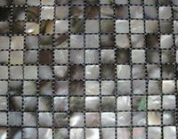 Wholesale Luxurious Black Mother of Pearl Tile Natural Ocean Pearl Mosaic Tile
