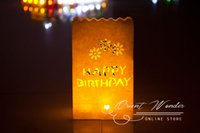 bags tealight - illuminating Candle bag Lantern Paper Tealight Garden Bags for wedding party decoration