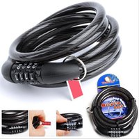 Wholesale Hot Sale Bike locks Brand New Bike safety Lock bike Cable Locks Password Code Combination Steel Cable New Digital