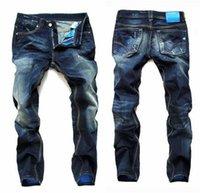 mens designer jeans - 2016 fashion true jeans For Men new arrival Brand Mens Jeans Straight Bleached Printed Jeans Fashion Designer Ripped biker jeans