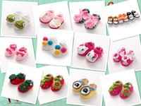 baby bootie shoes - Pure manual bootie Baby toddler shoes cartoon animal motifs