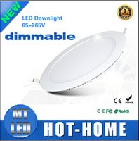 recessed downlight - 10PCS CE RoHS Dimmable Round Led Panel Light SMD W W W W W W V Led Ceiling Recessed down light Led downlight driver