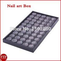 art display cases - Nail Art Clear Empty Box Glitter Dust Powder Jewelry Display Cases