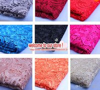 african fabric - African Lace Fabric Hot New Tops High Quality Color Water Soluble d African Lace Venice Fabrics Wedding Dress