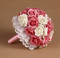 Wholesale 2016 Hot Sale Bridal Bouquets New Pearls Hand Made Flower Beautiful Party Wedding Bouquets Supplies