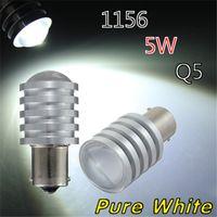 Wholesale Hot Sale DC12V BA15S P21W CREE Q5 LED White Car Auuto Light Source Parking Turn Reverse Brake Lamp Bulb order lt no track