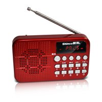 Wholesale P19 mini stereo portable radios Morning extroverted old card small speakers a generation of fat