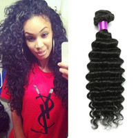 Wholesale Cheap Malaysian Deep Curly - Cheap Human Hair Malaysian Deep Wave 6A Malaysian Virgin Hair 4 Bundles Malaysian Deep Curly Virgin Hair Weaves Maylasian Deep Curly On Sale