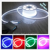 Wholesale 164ft x18mm V V full color RGB Led decorative Strip SMD5050 LEDs M waterproof Christmas string lights flex neon M