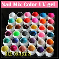 nail art glitter - Professional New Mix Colors Fashion Nail Art UV Gel Pure Glitter Powder Shimmer Colorful Nail Gel UV Gel Set
