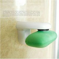 Wholesale Hot Sale Magnetic Soap Holder Prevent Rust Dispenser Adhesion Home Bath Wall Attachment