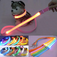 Wholesale Cheap Leashes For Dogs - Hot Sale Cheap Price Acessorios Para Cachorro Dog Collar Leash Set, Pets Safety Leash Rope, Flashing Lighting Led Necklace Collar For Dog
