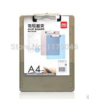 Wholesale Office supplies clipboard a4 transparent plastic plate holder paper clip office teaching supplies