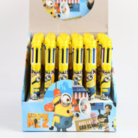 Wholesale 2015 Despicable Me Minions cartoon Ballpoint Pens color pens School Office student stationery Supplies mm pen