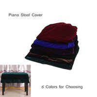 Wholesale High Quality Piano Single Chair Cover Piano Stool Chair Cover Pleuche Decorated with Macrame Colors for Choosing