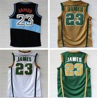 lebron james jersey - St Vincent St Mary High School Lebron James Jersey Rev Retro Basketball Jersey Embroidery Logo Authentic Jersey