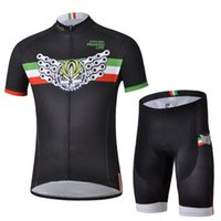 bicycle shipping service - Italy black chain short sleeved suit version riding bicycle service equipment Summer cycling clothes
