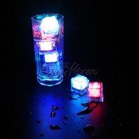 Wholesale 5Pcs Flashing Glowing LED Ice Cubes Sparkling Light Up Water Submersible Christmas Party Wedding Decoration BKD CS