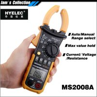 Cheap Free shipping HYELEC better than old Mastech MS2008A equal to FLUKE F302 alicate Multimetro multimeter clamp meters
