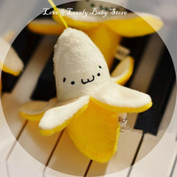 banana chicken - New Mobile Phone Strap Back Pack Color Text Small Banana Chicken Pendant Plush Toy for Baby Kids Girl Friend