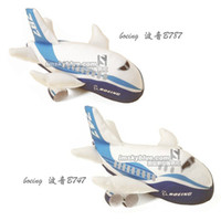 Wholesale Kay Blue Airlines Boeing B747 aircraft Boeing plush doll doll gift set airline stewardess