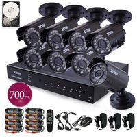 Wholesale ZOSI TVL HDMI CCTV system CH H DVR TB HDD HD CMOS IR CUT day night waterproof outdoor Bullet camera surveillance security
