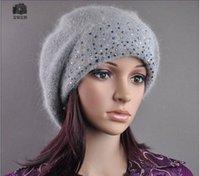 Wholesale Korean winter hat cashmere knit cap lovely ladies diamond autumn and winter wool cap