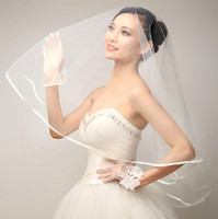 atmosphere layers - 2016 simple atmosphere bride wedding accessories headdress veil white veil accessories factory direct HY00140
