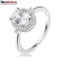 b brilliant ring - Classic Oval Shape Rings Platinum Plated Pave Setting Cubic Zirconia Bulgaria Jewelry Brilliant Ring CRI0178 B
