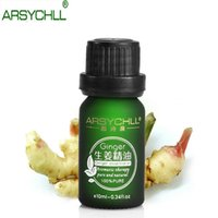 Wholesale arsychll ginger oil sex product pure plant essential oil ginger oil improve cold accumulation of phlegm anti hair loss