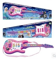 Wholesale New arrival Frozen Guitar kids Anna Elsa Educational Music toys Children princess guitar with music sound with light toy