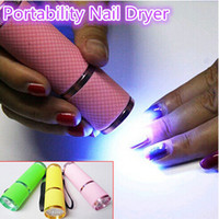Wholesale mini UV gel curing lamp portability nail dryer LED flashlight currency detector LED aluminum alloy AAA battery delivery fast