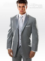 best plus size wedding dresses - 2015 new arrival Light Grey Groom Tuxedos Best Men s Wedding Dress popular Prom Clothing