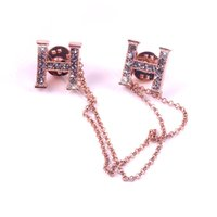 anniversary gift ideas for women - Jewelry Vintage Golden Tone Clear Rhinestone Crystal H Alloy Brooches and Pins Gothic with Chain Tassels Golden for Women Gift Idea