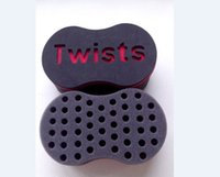 Wholesale New Barber Hair Twist Sponge Brush With Hole Dreads Locking Hair Coil Curl Hard Grip High Quality Popular in USA