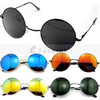 Wholesale Fashion New Goggles Women Lady Retro Summer Shade Round Style UV400 Sunglasses