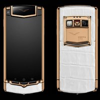 Ebook blanc Prix-Handmade artwork Signature Smartphone Skin Ti limitée crocodile blanc avec Android 4.44 PVD en acier inoxydable de luxe PDG téléphone